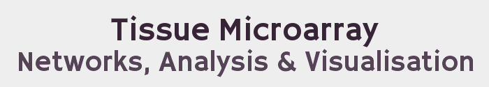 Tissue Microarray Networks, Analysis and Visualisation